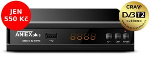 DVB-T2 set-top-box ANTEXplus ORION T2 HEVC za bezkonkurenčních 550Kč